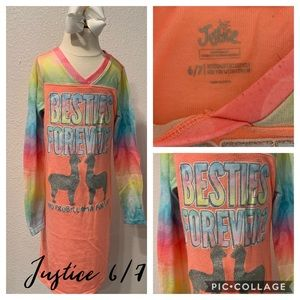 5 for $25 girls Justice night gown size 6/7